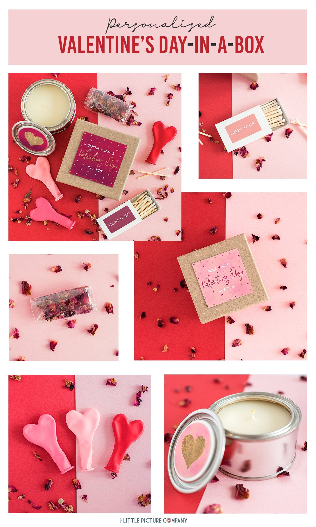 Personalised Valentine's Day Celebration in a box