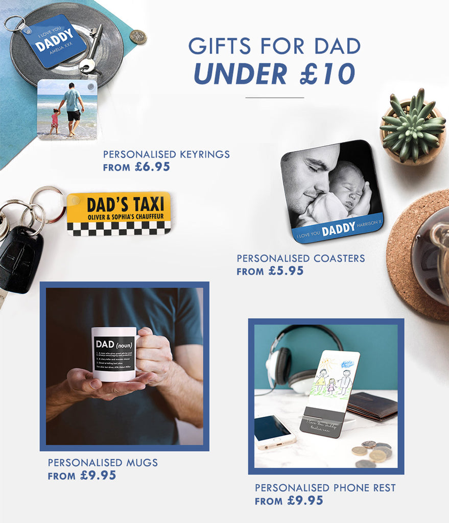 Unique Personalised Father's Day Gifts for Dad under £10
