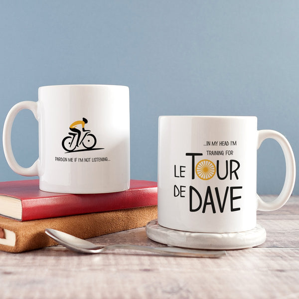 Personalised tour de france themed cycling father's day gift