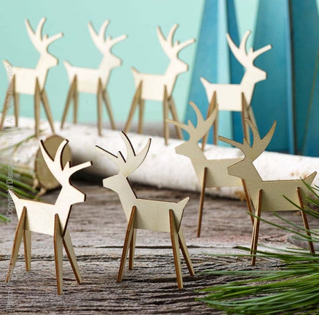 Alpine™ reindeer set (3 inches: natural)