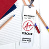 Personalised 'A+ Teacher' Metal Bookmark