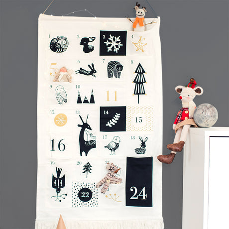 Scandi Advent Calendar With Personalised Bag