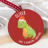 dinosaur christmas bauble