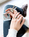 Personalised 'The Day I Became Your Grandma' Photo Keyring
