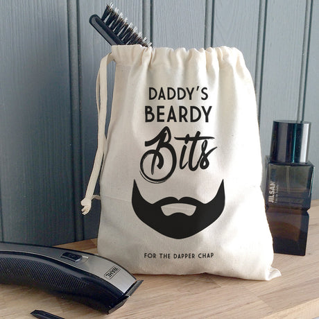 Men's Personalised 'Beardy Bits' Canvas Bag