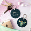 Personalised Bee Happy Keyring