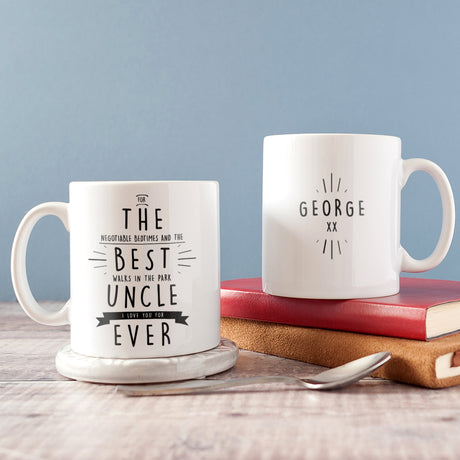 Personalised 'Best Uncle Ever' Secret Message Mug
