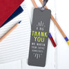 Personalised 'Big Thank You' Teacher Metal Bookmark