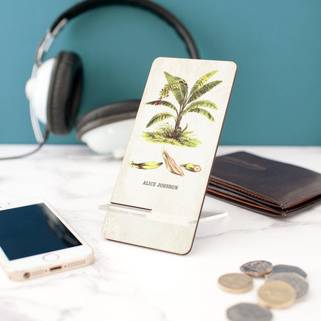 Personalised Vintage Botanical Mobile Phone Stand