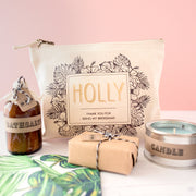 Personalised Bridesmaid Relaxation Kit And Make Up Bag