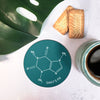 Personalised Chemical Compund 'Caffeine Fix' Coaster