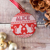 Personalised Cats Cross Stitch Jumper Bauble