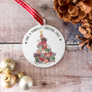 Personalised 'Purrfect Christmas' Cat Lover Bauble