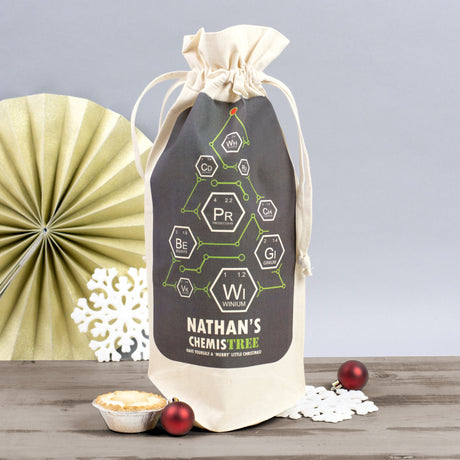 christmas wine bag