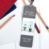 Personalised Child's Drawing for Teacher Metal Bookmark