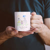 Personalised child drawing mug for dad