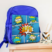 Personalised Blue 'Comic' Lunch Bag