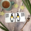 Personalised Couples 'Holding Hands' Penguin Mug Set