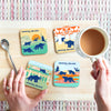 Crystal Palace Dinosaurs Retro Coaster Set
