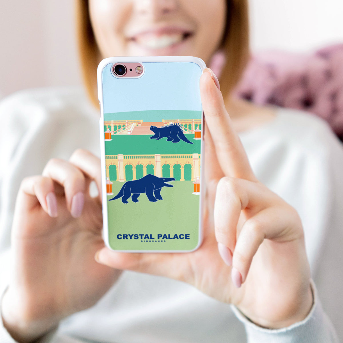 premium selection 6ee8c 46a8b Crystal Palace Dinosaurs - Crystal Palace Ruins Phone Cover