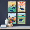 Crystal Palace Dinosaurs Retro Print Set