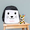 Children's Personalised Cute Animal Face Fabric Pencil Case