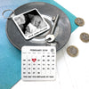 Personalised calendar keyring for dad