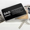 Personalised storage tin for dad