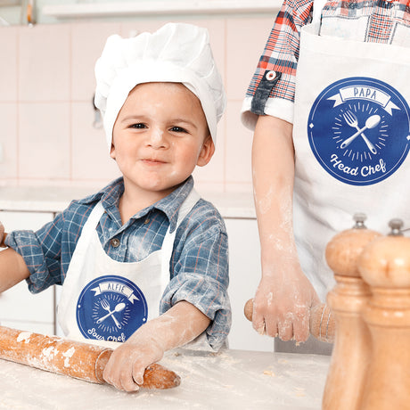 Personalised Father & Child Apron Set