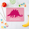 Children's Personalised Dinosaur Placemat and Coaster Set