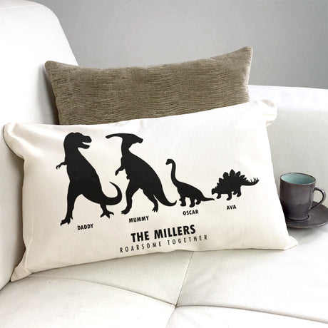 Personalised 'Roarsome Together' Dino Family Cushion