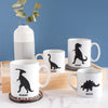 Personalised dinosaur mugs for family