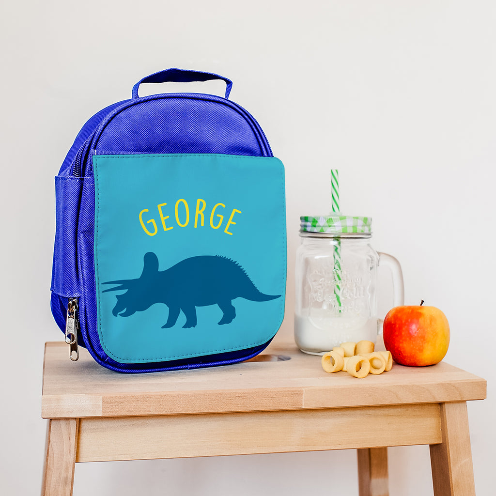 Personalised Insulated Triceratops Lunch Bag