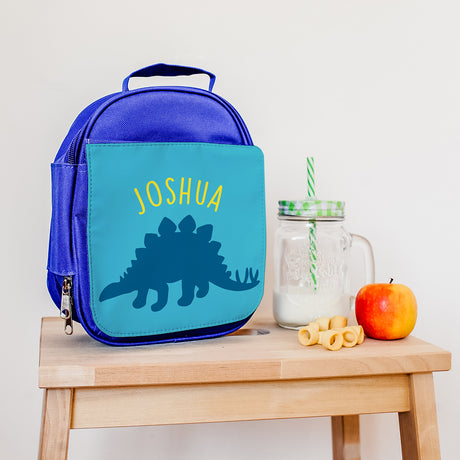 Personalised Insulated Stegosaurus Lunch Bag