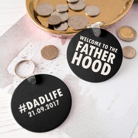 Personalised Fatherhood Keyring