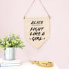 Personalised Feminist Message Wall Pennant