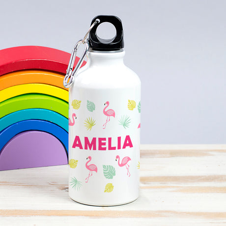 Children's Personalised Flamingo Waterbottle