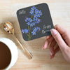 Personalised Floriography Coaster