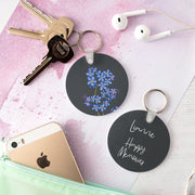 Personalised Floriography Keyring