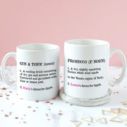 Personalised Definition of Gin & Tonic Mug