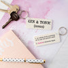 Personalised Gin & Tonic Definition Keyring