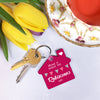 Personalised 'Home Is Where…' Family Keyring