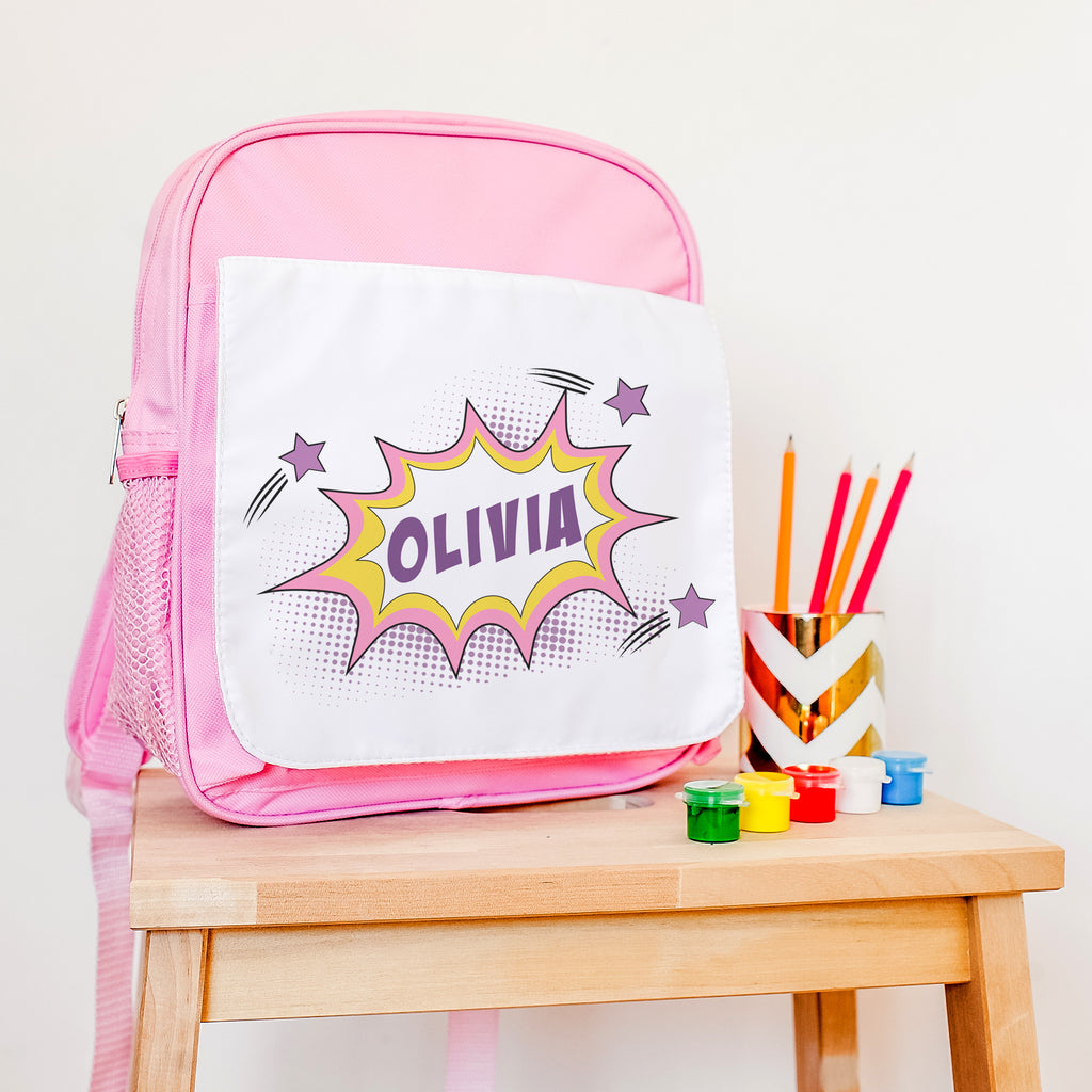 personalised girls schoolbag