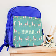 Personalised Backpack With Mexican Llamas Design