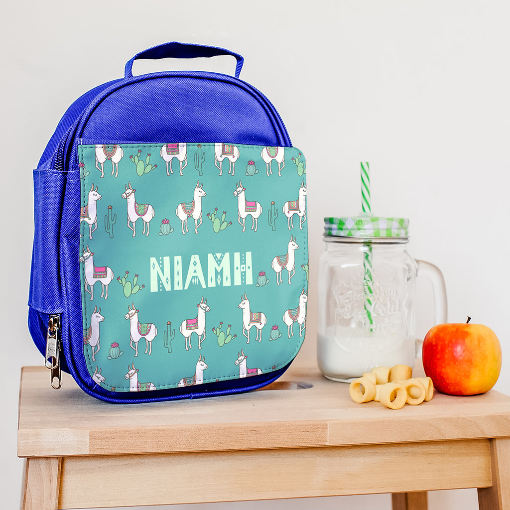 Personalised Lunch Bag With Mexican Llamas Design