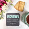 Personalised Definition Of 'Love' Coaster
