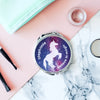 Personalised Stardust Unicorn Pocket Mirror