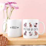 Mother Of Cats Personalised Mug