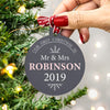 mr and mrs christmas bauble