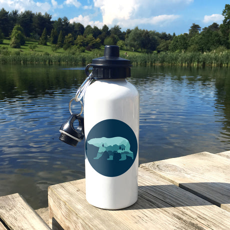 Children's Personalised 'Ocean Defender' Polar Bear Waterbottle